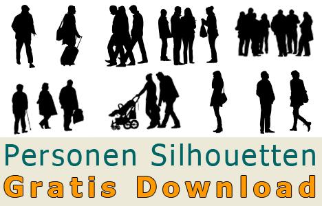 Freigestellte-Personen-Silhouetten-Kostenloser-Download