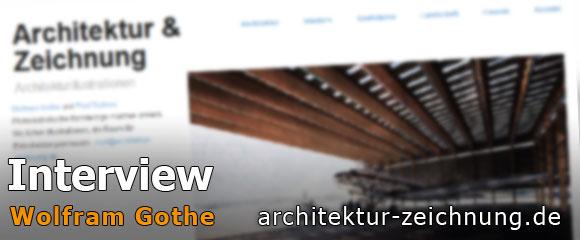 Handgezeichnete Architekturgrafiken
