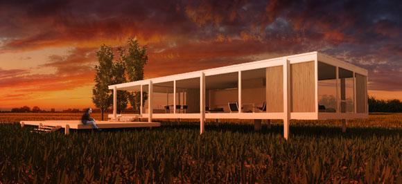 Architektur Rendering 3D Pflanzen und Bäume