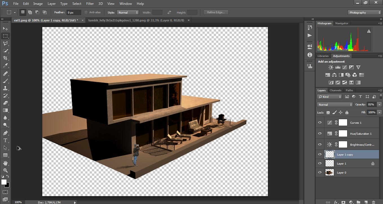 Architektur Rendering architektur visualisierung tutorial schatten in photoshop erstellen