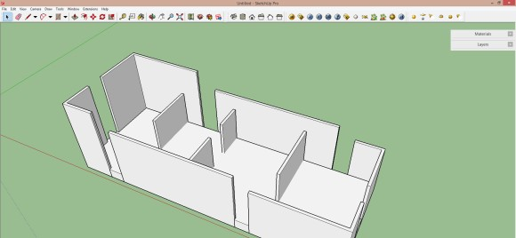 03. Einfaches Modell in Sketchup aufbauen_580