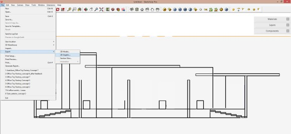 10. Ansicht vom 3d modell als 2d graphic exportieren_580