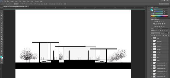 22. Freigestellte Baeume Architektur Szene hinzufuegen_580