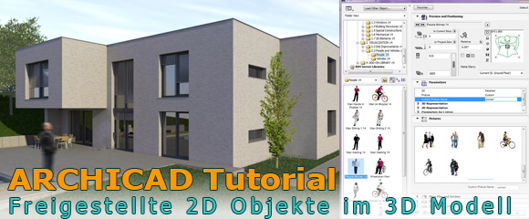 archicad tutorial freigestellte 2d objekte im 3d modell nutzen. Black Bedroom Furniture Sets. Home Design Ideas