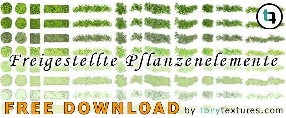 Freigestellte-Pflanzen-Landschafts-Architektur-Plaene