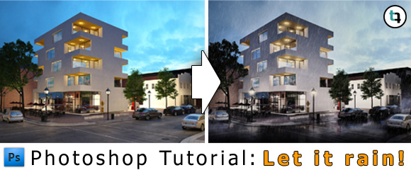 Photoshop-Tutorial-Regen-Effekt-Architektur-Rendering