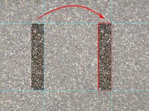Linken Randbereich außerhalb der Auswahl kopieren und verschieben