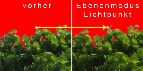 """Vermischung der Ebenen über den Ebenenmodus """"Lichtpunkt"""""""