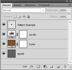 Photoshop Ebenenstruktur des Teppich Textur Generators
