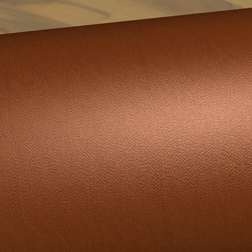 Beispielrendering mit der fertigen Leder Textur