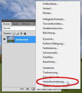 """Neue Einstellungsebene """"Verlaufsumsetzung"""""""
