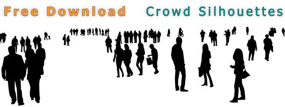 Free-Download_Freigestellte-Silhouetten-Menschenmengen-Architekturillustration