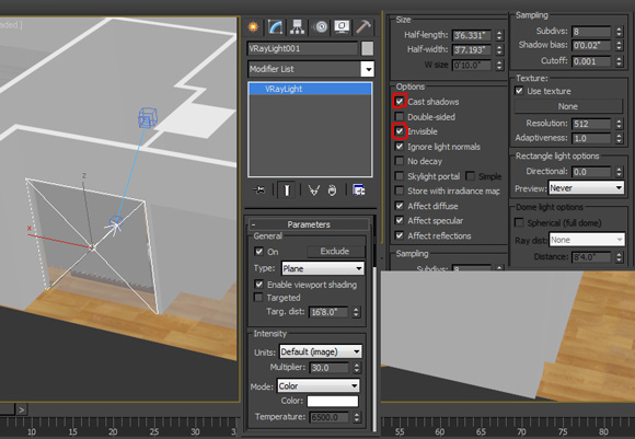 14_VRay-Plane-Light-zur-Belichtung-Innenraumvisualisierung-Architektur