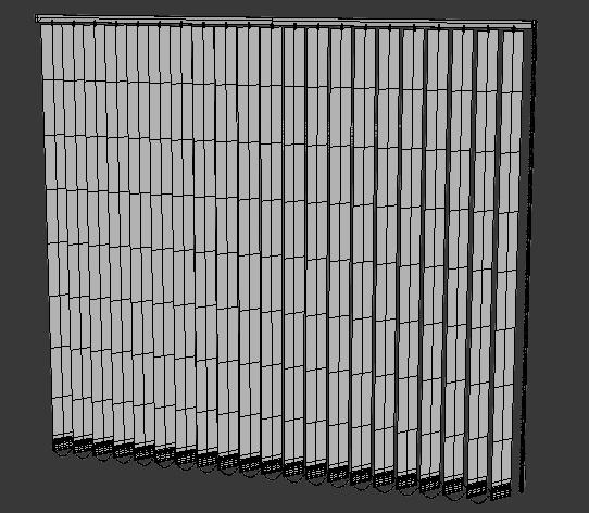 3_3d Modell vertikale Schalousinen