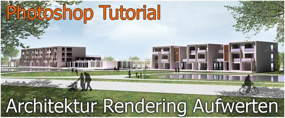 farben im interieur geschickt eisetzen 3d visualisierung, photoshop tutorial: architektur 3d rendering mit bäumen, personen, Design ideen