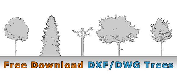 Kostenlose CAD Bäume