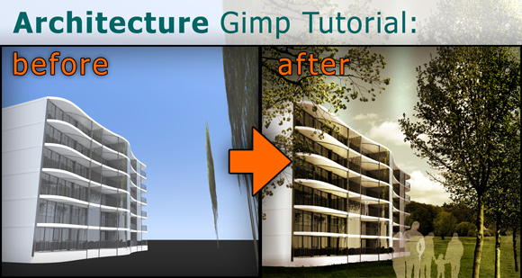 00_Gimp-Tutorial-Architektur-Rendering-Staffage