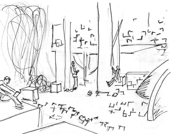 580-03_Handskizze-Innenraum-Szene