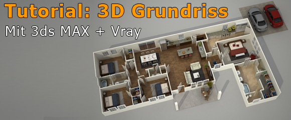 3D Grundriss Architektur Rendering Tutorial