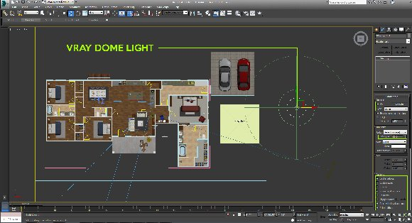 dome light für 3d grundriss visualisierung