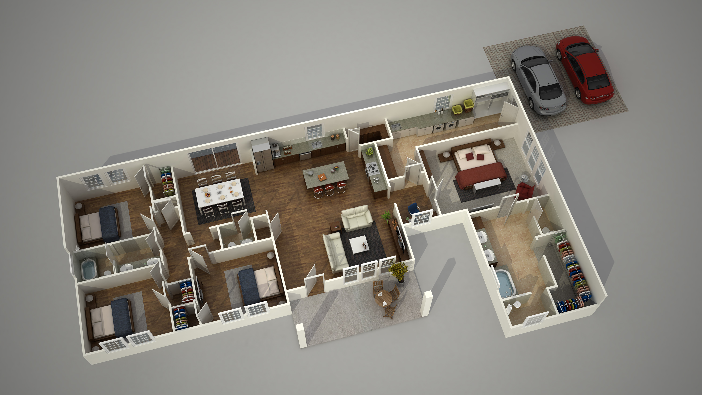 tutorial architektur rendering 3d grundriss erstellen. Black Bedroom Furniture Sets. Home Design Ideas