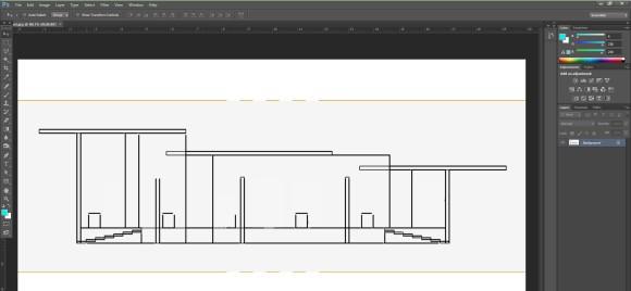 12. Sketchup Zeichnung in Photoshop importieren.jpg_580