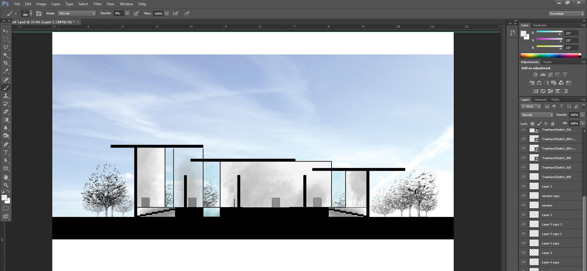 Sketchup Schnitt Ansicht In Photoshop Anlegen