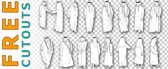 Scheich-Araber-Freigestellt-Architektur-Staffage