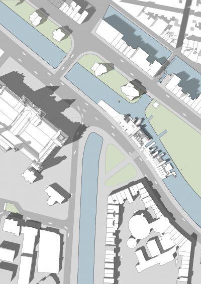 Angelegte Flächen in Photoshop Architektur Plan