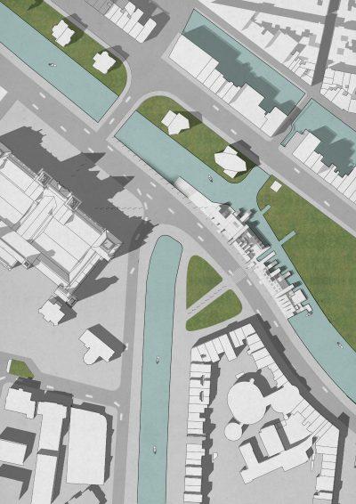 Landschafts Architektur Plan Mit Gras Textur