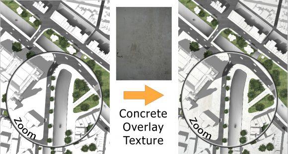 Textur mit Architektur Plan überlagern - How to